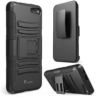 Jeg-Blason Amazon brann telefon Case - førsteklasses serien tolags hylster Cover - svart