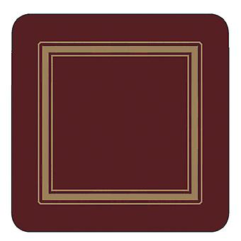 Pimpernel Classic Burgundy Coasters Set of 6