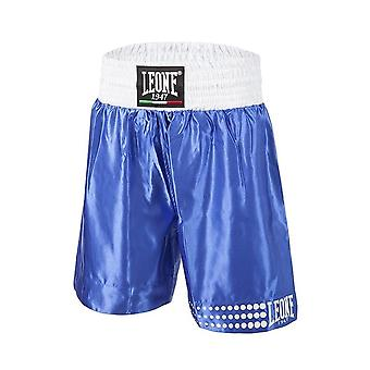 Leone 1947 Satin Boxing Shorts - Blue & White