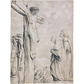 Hans The Younger - Christ on the Cross Poster Print Giclee