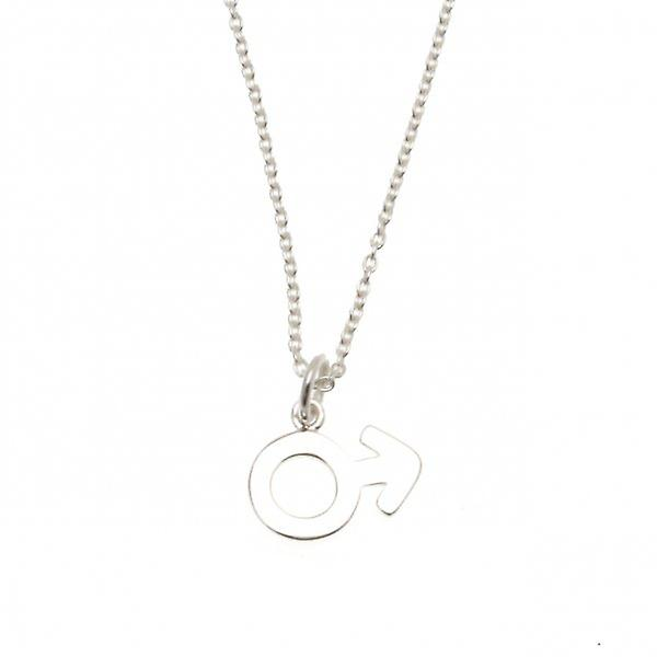W.A.T Sterling Silver Male Symbol Necklace