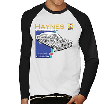 Haynes Owners Workshop Manual 0070 Ford Cortina Mk3 Men's Baseball Long Sleeved T-Shirt