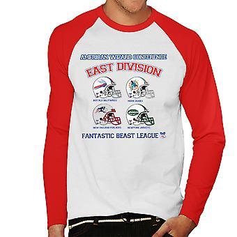 Phantastische Tierwesen League East Division Herren Baseball T-Shirt Langarm
