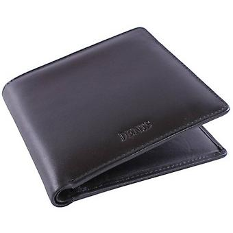 Dents Leather Credit Card Bill-Fold Wallet - Black