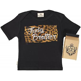 Qual der faulen Funky Brother Babys T-Shirt 100 % Bio In Milchtüte