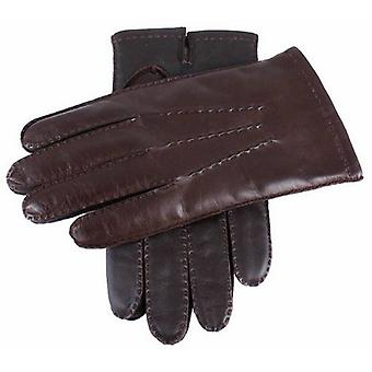 Dents Cashmere Lined Touchscreen Leather Gloves - Brown