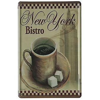 Wellindal Printed Metal Box Vintage New York Bistro 20X30- Hcn1015-87