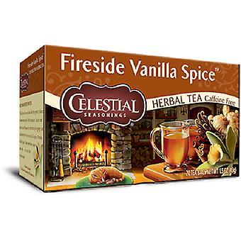 Celestial kryddor Fireside Vanilla Spice örtte 2 Box-paketet