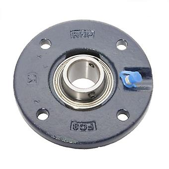 FC25 RHP SELF LUBE CAST IRON FOUR BOLT ROUND FLANGE BEARING UNIT FC