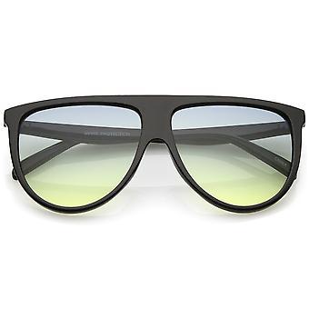 Oversize Flat Top Aviator Sonnenbrille Gradient Teardrop flache Linse 60mm