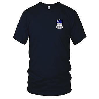 US Army - 271st Infantry Regiment Embroidered Patch - Mens T Shirt