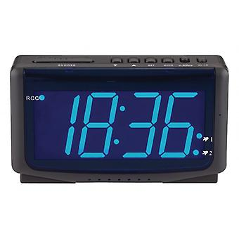 Balance Radio-Controlled Alarm Clock Digital Black