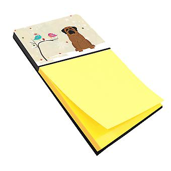 Christmas Presents between Friends Mastiff Brindle Sticky Note Holder