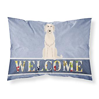 Irish Wolfhound Welcome Fabric Standard Pillowcase