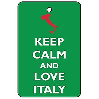 Keep Calm And Love Italy Car Air Freshener