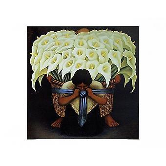 El Vendodor De Alcatraces affisch Skriv av Diego Rivera (27 x 22)