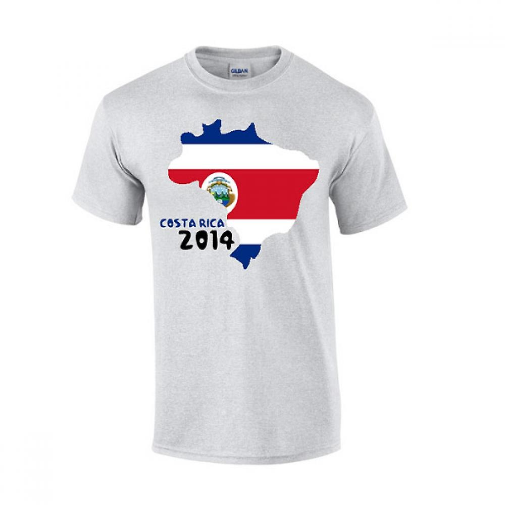 Costa Rica 2014 Country Flag T-shirt (grey)