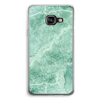 Samsung A3 (2017) Transparent Case - Green marble
