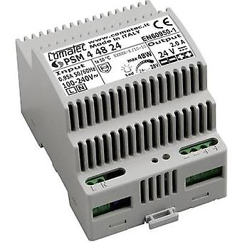 Rail mounted PSU (DIN) Comatec PSM4/48.24 24 Vdc 2 A 48 W