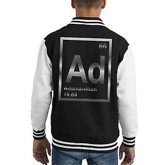 Xmen Adamantium Periodic Element Kid's Varsity Jacket