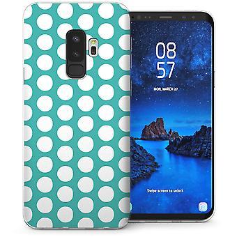 Samsung Galaxy S9 Plus Polka Dot TPU Gel Case – Green