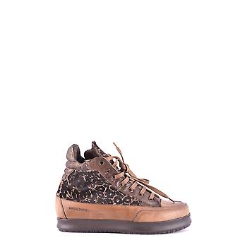 Candice Cooper women's MCBI394007O brown suede leather Hi Top sneakers