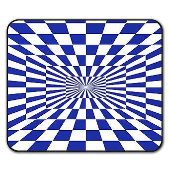 Plaza ilusión patrón ratón antideslizante alfombra Pad 24 cm x 20 cm | Wellcoda