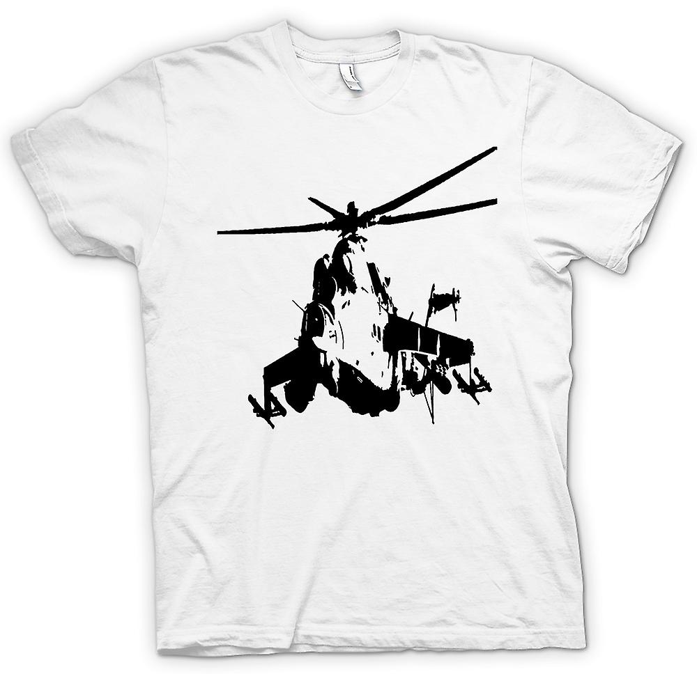 T-shirt-MI-24 HIND Attack Helicopter
