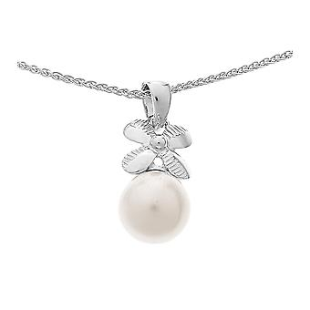 Orphelia Silver 925 Chain With Pendant Zirconium Shell Pearl  ZH-4876