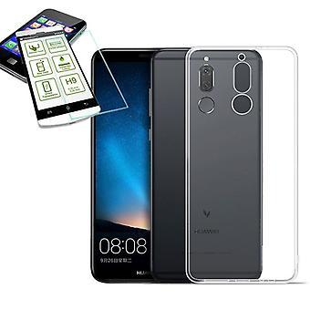 Silikoncase transparent + verre de protection H9 0,3 pour Huawei s'accoupler 10 sac Lite nouveau