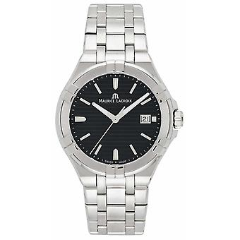 Maurice Lacroix Mens Aikon Stainless Steel Bracelet Black Dial AI1008-SS002-331-1 Watch