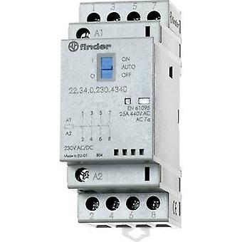 Contactor 1 pc(s) 22.34.0.012.4640 Finder 2 makers, 2 breakers 12 Vdc, 12 V AC 25 A