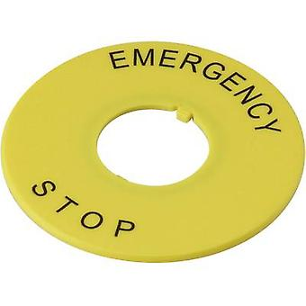 Label Print motif EMERGENCY STOP Yellow DECA A2AV-27 1 pc(s)