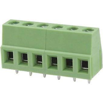 Degson DG128-5.0-02P-14-00AH Screw terminal 3.31 mm² Number of pins 2 Green 1 pc(s)