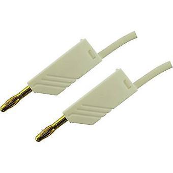 SKS Hirschmann MLN 100/2,5 WS Test lead [Banana jack 4 mm - Banana jack 4 mm] 1 m White