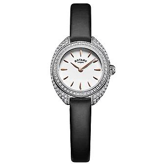 Rotary Womans Petite Stone Set Mesh Silver LS05087/02 Watch