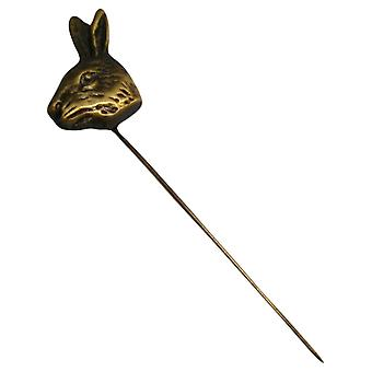 Bassin and Brown Hare Jack Lapel Pin - Antique Bronze