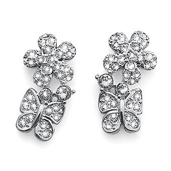 Oliver Weber Post Earring trouwen Rhodium Crystal
