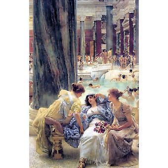 Thermae Antoninianae, Sir Lawrence Tadema 40x60cm mit Tablett