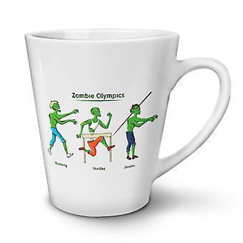 Zombie Olympics NEW White Tea Coffee Ceramic Latte Mug 17 oz   Wellcoda