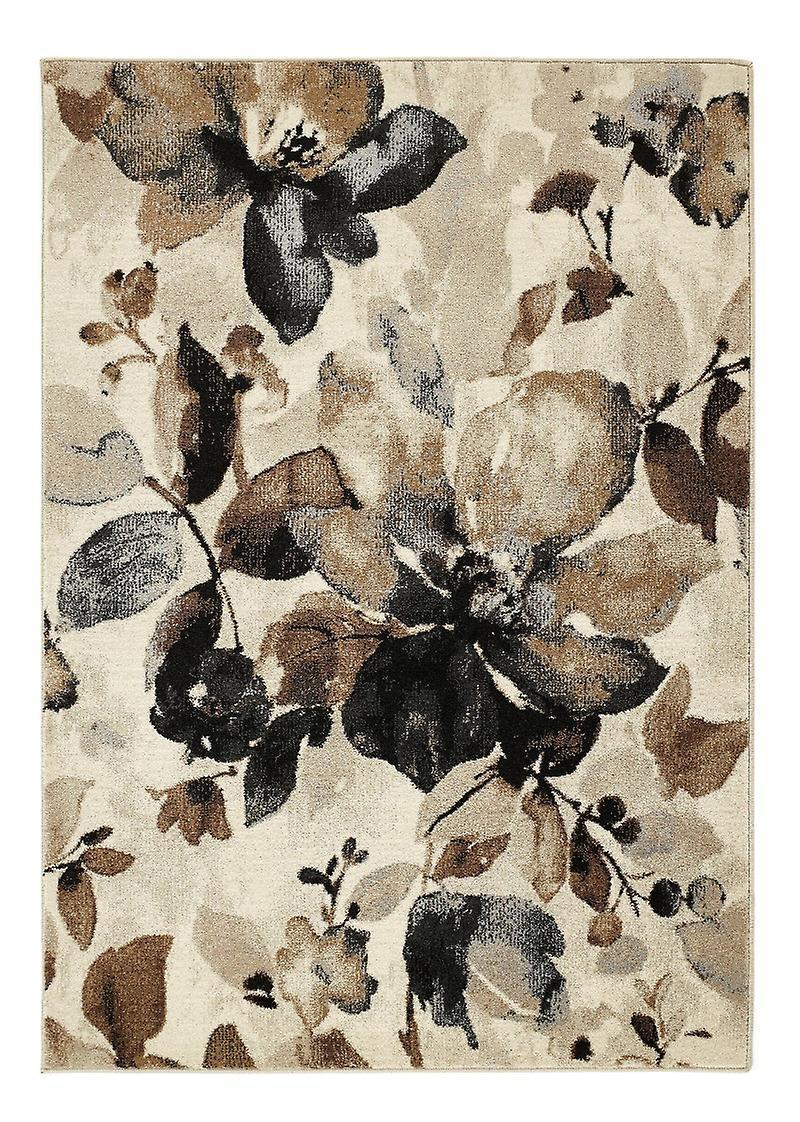 Aquarelle fleurs Rectangle Beige tapis tapis modernes