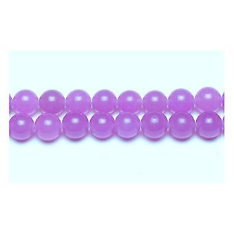 Nitką 45 + fioletowy Malezji Jade 8mm zwykły koraliki okrągłe GS9950-3