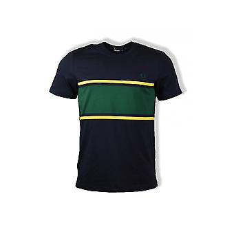 Fred Perry Colour Block T-Shirt (Navy)