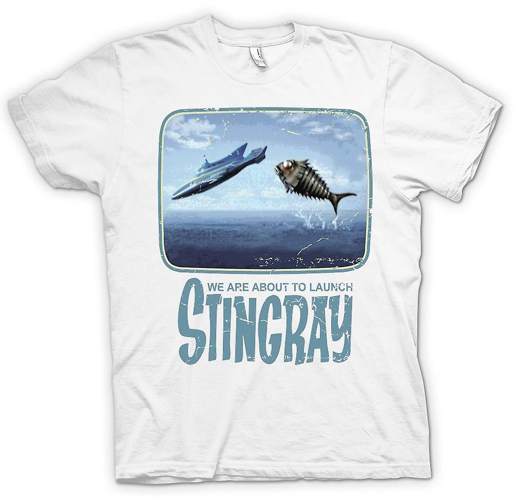 Womens T-shirt - We Are About To Launch Stingray - Thunderbirds Inspired