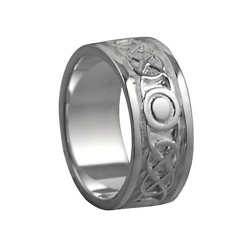 Silver 8mm Celtic Wedding Ring Size Q
