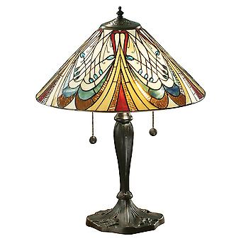 Hector Medium Tiffany Style bordslampa - interiör 1900 64163