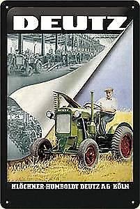 Deutz Tractor Factory embossed steel sign