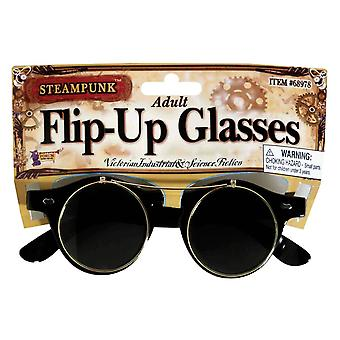 Steampunk Flip-Up briller For voksne