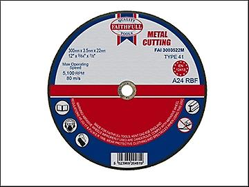 Faithfull Cut Off Disc for Metal 300 x 3.5 x 22mm