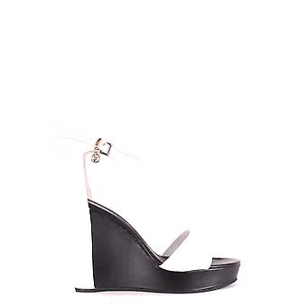 Armani Jeans White Leather Sandals
